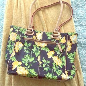 Tignanello floral tote bag